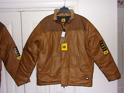 d9ad250d Cat Caterpillar 2XL Water Resistant Excursion Insulated Work Wear Jacket  1310054