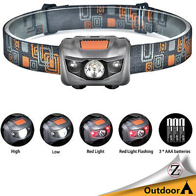 C00E USB Rechargeable Head Torch Lamp Headlamp 6modes Sporting Goods Durable