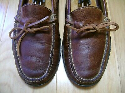 6955e662c13 Men s Shoes MARTIN DINGMAN Driving Loafer Sz 8.5 M Brown Leather Moccasin
