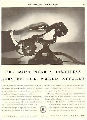 1932 vintage AD AMERICAN TELEPHONE & TELEGRAPH BELL , 1932 dialess phone 083118