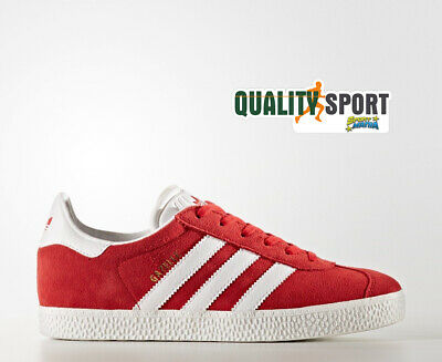 timeless design 56971 f56a8 Adidas Gazelle Rosso Scarpe Shoes Ragazzo Donna Sportive Sneakers BY9543  2019
