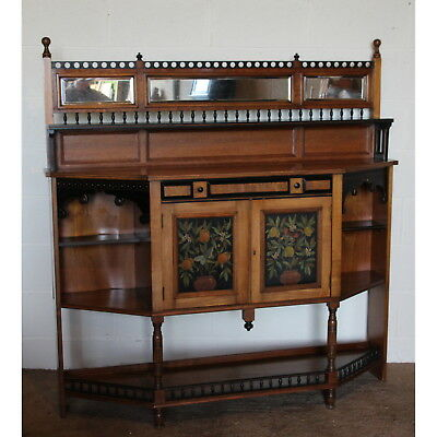 A Quality Victorian Aesthetic Arts & Crafts Mahogany Mirrored Sideboard