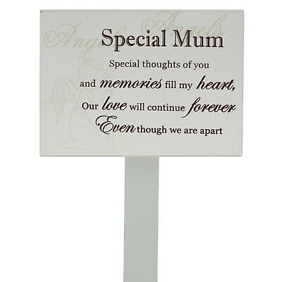Mum Memorial Stick Graveside Decoration Tribute Condolence Plaque Marker F0898F