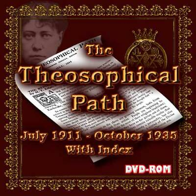 Occult & Metaphysical: The Theosophical Path 1911-34 All Issues+ index DVD-ROM