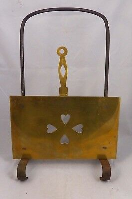 19th Century brass and Iron Fireplace Fender and Trivet
