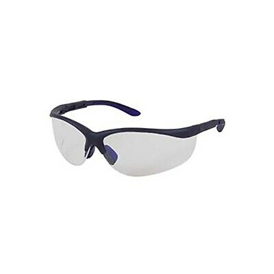 2x Protector MIST SAFETY SPECTACLES Smoke Lens Blue//Black Frame *Aust Brand