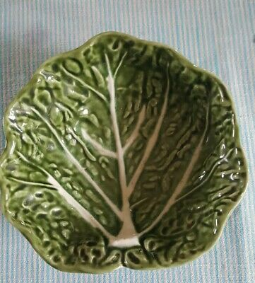 Small vintage collectable cabbage leaf serving dish by Olfaire from Portugal