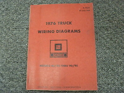 1976 chevy c40 c50 c60 c70 medium duty truck electrical wiring diagram  manual