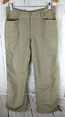 North Face Convertible Pants to Shorts Womens Size 8 Nylon Beige Hiking Outdoor