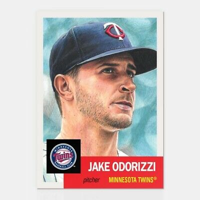 2018 Topps Living Set 138 Jake Odorizzi Minnesota Twins Retro 1953 Style