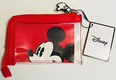 PRIMARK DISNEY MICKEY MOUSE RED CARD HOLDER WALLET PURSE - Brand New With Tags