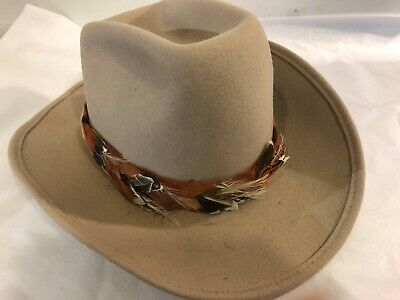 vintage western  cowboy hat with bucking bronco lining size 7 3/8