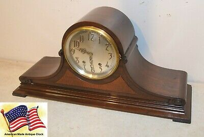 Restored Seth Thomas Tambour 21-1928 Antique Mahagony Time & Strike Clock