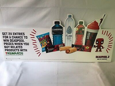 Deadpool 2 Movie 7/11 Promo Food Products Chimichanga Display Board, New