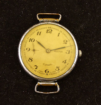 Very rare!!! Old Molnija Collectable Soviet Russian wrist watch 50 years victory