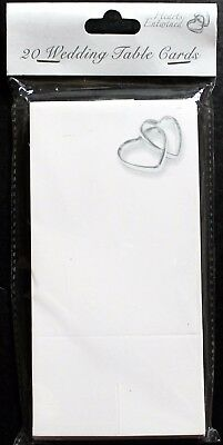 Wedding Day table cards, 20 pack, silver hearts entwined, celebrate brand new
