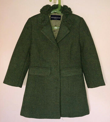 Ermanno Scervino Junior 3 Bottoni Cappotto Coat 6 Anni