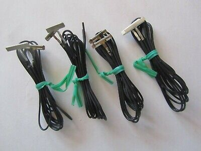 """Lot of 4 pr. Atlas  HO Code 100 Terminal Rail Joiners 842 ATL842 24"""" long wires"""