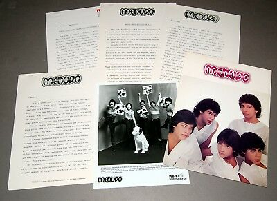 MENUDO 1983 A Todo Rock 6pc Promo Photo Press Kit Lot Boy Band