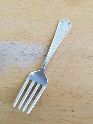 Webster Co Vintage To Antique Sterling Silver Baby Feeding Fork