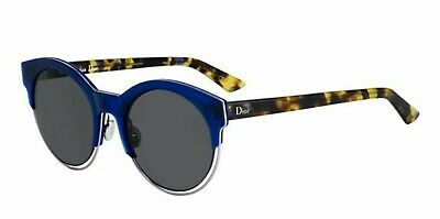 741f9ac939f2 Christian Dior Sideral 1 1W2Y1 Blue   Gold Havana Gray Flash Sunglasses cool