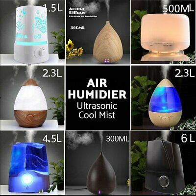 Large Essential Oil Aroma Air Diffuser Drop Shaped Humidifier AU PLUG 7 Color XT