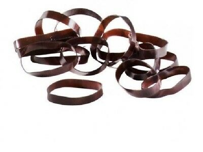 Shires Silicone Plaiting Bands - Brown, pack of 450