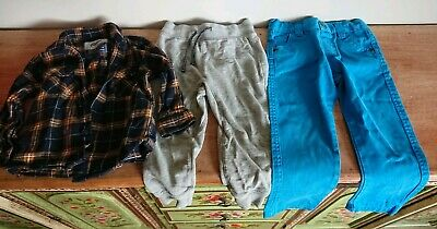 Boys Clothes Bundle Age 1.5-2 Years shirt job lot trousers jeans joggers used