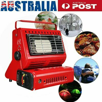 Portable Butane Gas Heater Camping Hiking Outdoor Camper Survival Heat Cooker AU