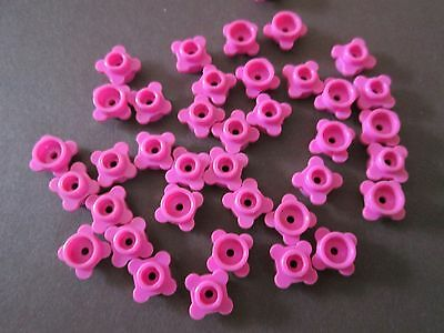 New LEGO Lot of 6 Dark Pink 1x1 Flower Edge Round Plates Specialty Pieces