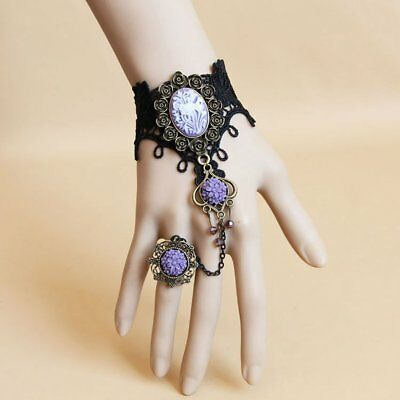 Flower Crystal Lace Ring Bracelet NV