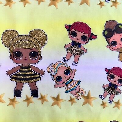 Fq Lol Surprise Doll Queen Bee Luxe  Polycotton  Fabric Girls Character