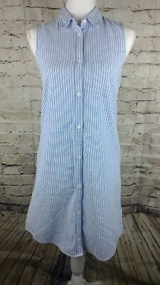 7a736b9af6 So juniors oxford shirt dress blue and white button down dress size small