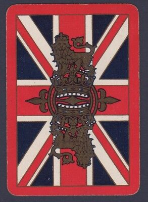 Playing Cards Single Swap Card Antique English Wide ROYAL CROWN LION Union Jack