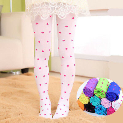 Girls Kids Dotted Tights Stockings Pantyhose Socks Ballet Solid Beauty fashion