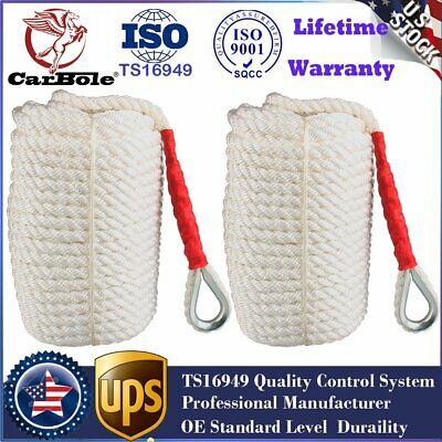 3/4''×200' TWISTED THREE Strand dock line rope cord boat