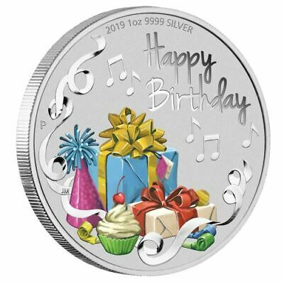 NEW Perth Mint Happy Birthday 2019 1oz Silver Coin
