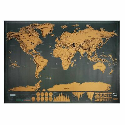 Traveler Scratch World Map Poster Vintage Wall Sticker Home Decoration Accessory