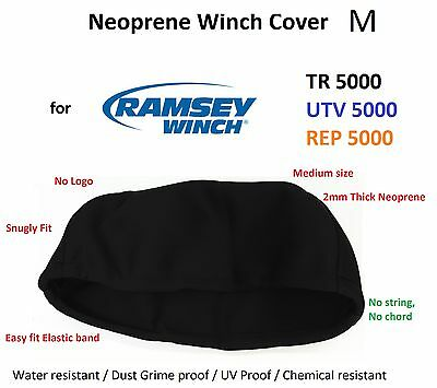 Ramsey Winch Neoprene Cover UTV TR REP 5000 lb WaterResist Snugly fit M 02