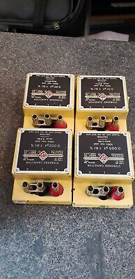 General Radio Co. Standard Capacitor Type No. 1409-G, K, L, M, R, T, AND Y
