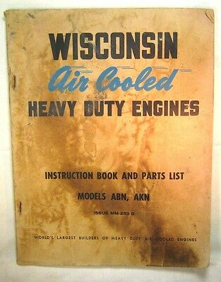 Wiscon Air Cooled Heavy Duty Engines Models ABN. AKN