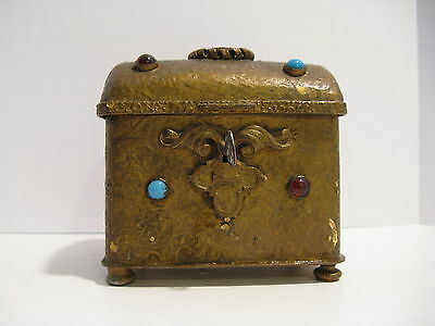Antique Turkish Ottoman Tombak Snuff Box, Casket, Treasure Chest, MAGNIFICENT