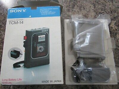 New In Box Vintage Sony TCM-14 Cassette Recorder
