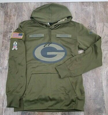 best loved adba6 2eb42 NIKE GREEN BAY Packers 2018 Salute to Service Hoodie 944236-395 Size M