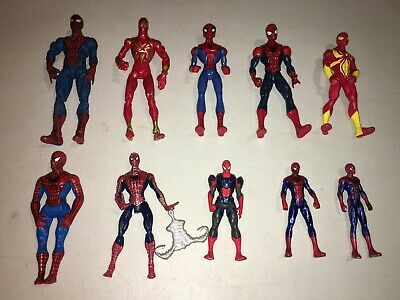 Spiderman Action Figure Mixed Lot Of (10) Marvel Super Hero Toy
