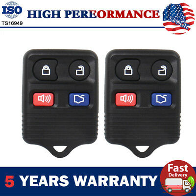 2Pcs Remote Car Key Fob For Ford GT Fusion Explorer Mustang 1999-2004 & Lincoln