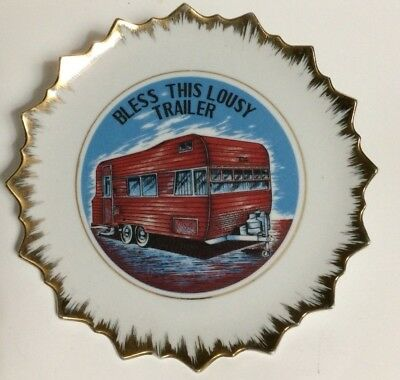 Vintage Decorative Plate BLESS THIS LOUSY TRAILER
