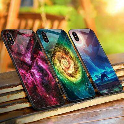 Luminous Tempered Glass Luxury phone Case for iPhone 8 8 plus X XS XR