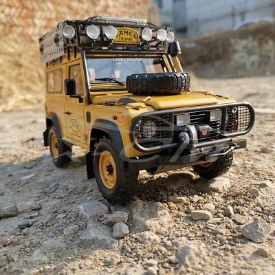 "Car Model Almost Real Land Rover Defender 90 ""CAMEL TROPHY"" Edition 1:18 + GIFT"