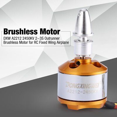 DXW A2212 2450KV 2-3S Outrunner Brushless Motor for RC Fixed Wing Airplane NV